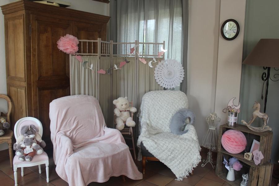 Baby shower baby girl decoration decoratm vintage