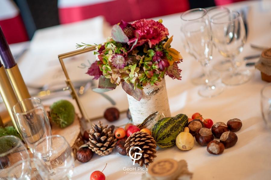 decoratm fleurs numero table decoration mariage