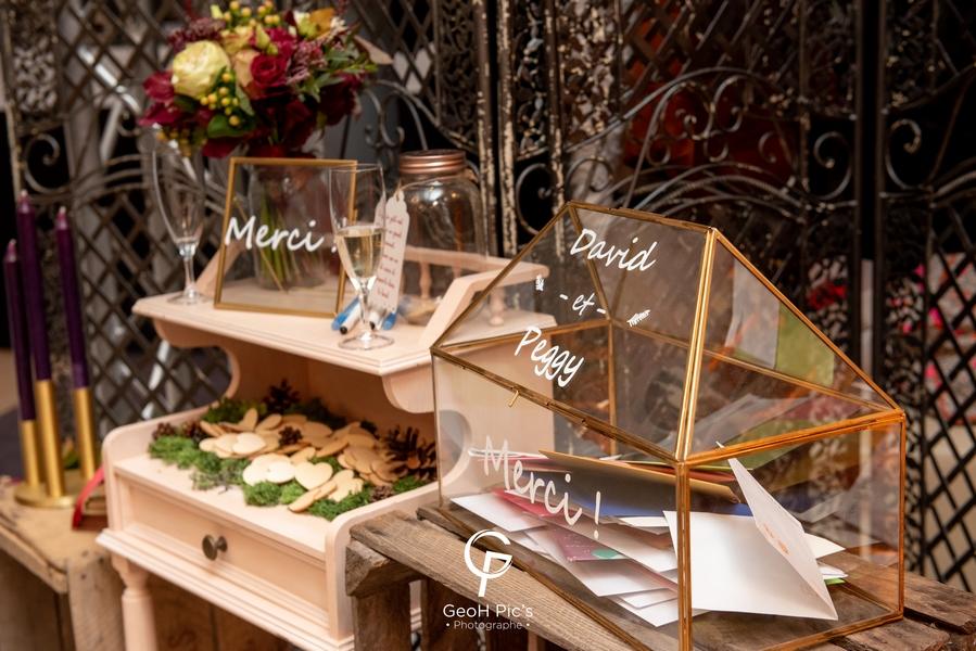 table souvenir urne mariage decoration decoratm